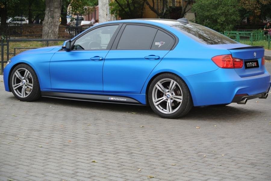Накладки под пороги (Лезвия) BMW 3-series (F30) INMAX. Аналог накладок М-порогов (OEM 51778056579, OEM 51778056580)