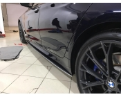 Накладки под пороги (Лезвия) BMW 5-series (G30). Аналог накладок М-порогов (OEM 51192447015 и 51192447016)