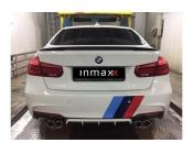 """Диффузор заднего бампера BMW 3-series (F30). Аналог М-Perfomance под выхлоп """"4 трубы"""""""